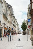 Street Rue Du Canal In Angers, France