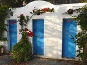 Blue doors in Positano, Italy