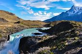 Waterfalls In Parque Nacional Torres Del Paine, Chile