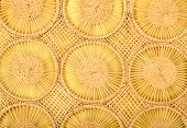 Circles wicker background.