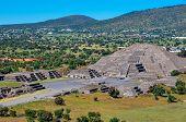 Pyramid Of Sun, Teotihuacan, Aztec Ruins, Mexico