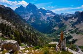 Paintbrush Canyon Trail In Grand Tetons National Park, Wyoming, Usa