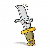 cartoon frightened knife
