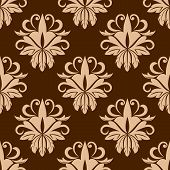 Beige and brown seamless pattern