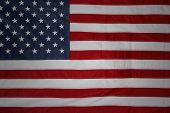 Closeup of American flag stars and stripes