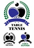 Table tennis emblems set