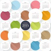 Vector 2015 calendar template