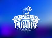 The Summer Paradise poster design