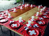 Table in Switzerland