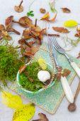 On the autumn kitchen table