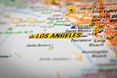 Los Angeles City On A Road Map