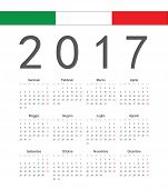 Simple Italian 2017 Year Vector Calendar