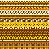 Ethnic pattern. Vector seamless background.