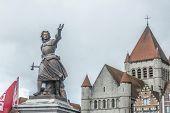 Marie-christine De Lalaing In Tournai, Belgium.