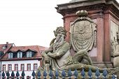The Man Statue At The Old Bridge In Heidelberg, Germany
