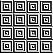 Black And White Geometric Square Seamless Pattern