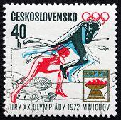 Postage Stamp Czechoslovakia 1971 Women's High Jump