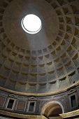Ceiling of Pantheon in Rome