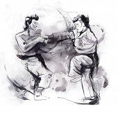 Karate - Hand drawn illustration