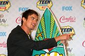 LOS ANGELES - AUG 10:  Tyler Blackburn at the 2014 Teen Choice Awards Press Room at Shrine Auditoriu