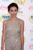 LOS ANGELES - AUG 10:  Rowan Blanchard at the 2014 Teen Choice Awards at Shrine Auditorium on August 10, 2014 in Los Angeles, CA
