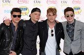 LOS ANGELES - AUG 10:  Rixton at the 2014 Teen Choice Awards at Shrine Auditorium on August 10, 2014