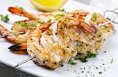 grilled prawn skewer