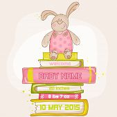 Baby Bunny Shower or Arrival Card - with place for your text - in vector