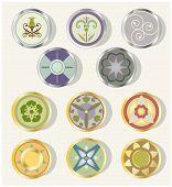 Round Floral Design Elements