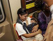 Breastfeeding on the A train