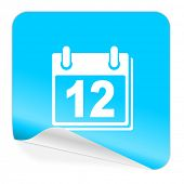 calendar blue sticker icon