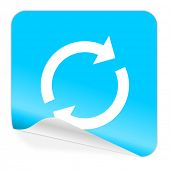 reload blue sticker icon