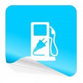 fuel blue sticker icon