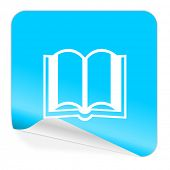 book blue sticker icon