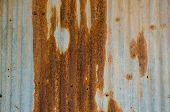 Dirty And Rusty Brown Color Zinc Plate Wall