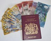 Autralian Dollars And Passport