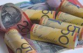 Australian Dollars Rolled Up