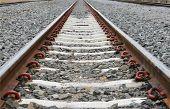 Long Railway For Train