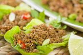 stock photo of crispy rice  - Larb  - JPG