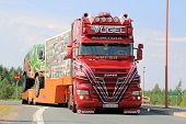 Austrian Show Truck Super Scania V8 In Lempaala, Finland