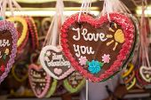 Gingerbread heart offered at funfair