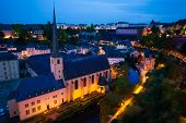 Abbey de Neumunster in Luxembourg at night