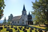 Traditiinal Norway churches in Torpo