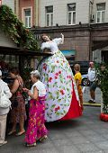 MOSKOW  - AUGUST 10, 2014: City holiday