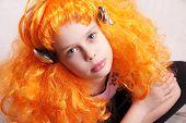 Redhead Girl Listen To Music