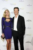 LOS ANGELES - JAN 8:  Brooke Burns, Dylan Neal at the Hallmark TCA Party at a Tournament House on January 8, 2014 in Pasadena, CA