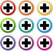Plus Cross Icons
