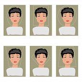 Women Face Types. Vector Illustration