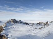 Beautiful Ski Slope In The Alps