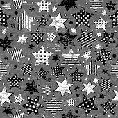 Grunge Vintage Stars Seamless Background